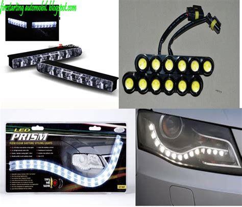 cara buat lu led kereta fire starting automobil diy pemasangan lu led daylight