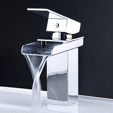 bathroom sink taps kokols 81h39chr vessel waterfall bathroom sink basin