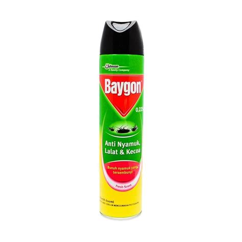 Baygon Spray 600ml Ungu Berkualitas jual baygon aerosol 600 ml harga kualitas