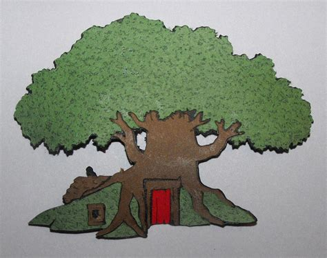 winnie the pooh a tree for 1405286636 winnie the pooh tree house die cut