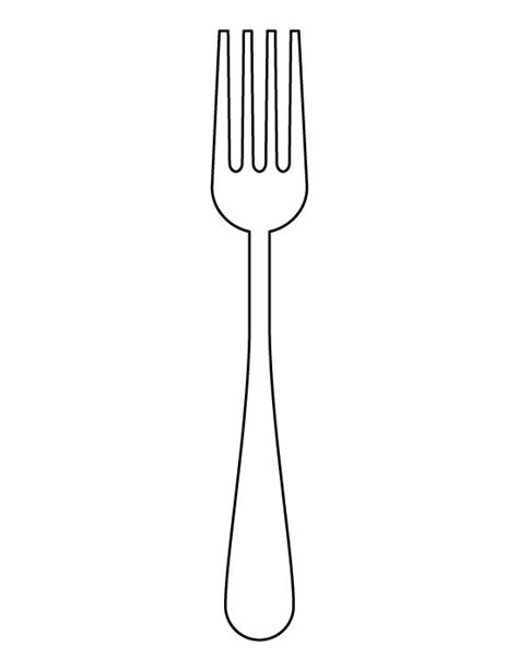 Fork Pattern Use The Printable Outline For Crafts Creating Stencils Scrapbooking And More Fork Template Printable
