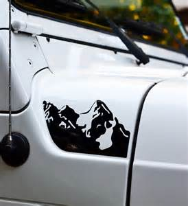 Jeep Tj Decal Jeep Wrangler Tj Mountains Decal 2pc Set