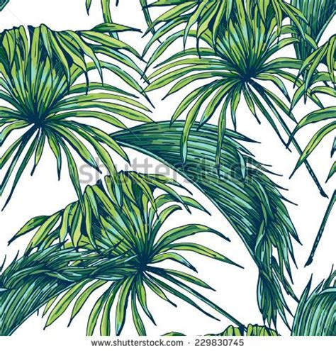 Floral Prints Beautiful Seamless Tropical Jungle Floral Pattern