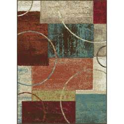 Brown And Teal Area Rugs Tayse International Trading Brown Teal 5 X 7 Deco Area Rug