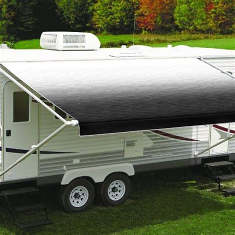 carefree of colorado awning springs carefree 10ft black shale fade roll out awning no arms