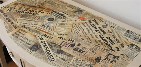 Decoupage With Newspaper Clippings - decoupage with newspaper clippings 28 images decoupage