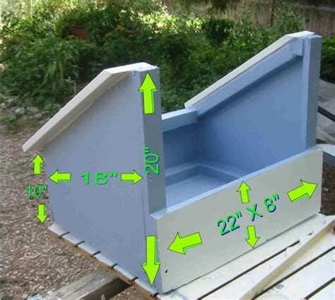 nest box with dimensions chickens pinterest