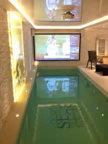 luxury basement pool in indoor pools