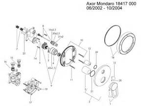 hansgrohe axor mondaro bath mixer shower spares and parts