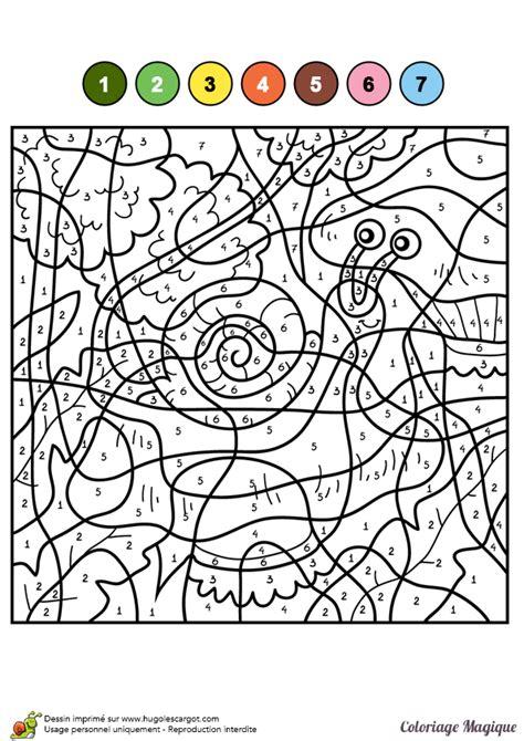 Dessin 224 Colorier D Un Coloriage Magique Cm1 Petit Escargot Coloriage Magique Addition A Imprimer L