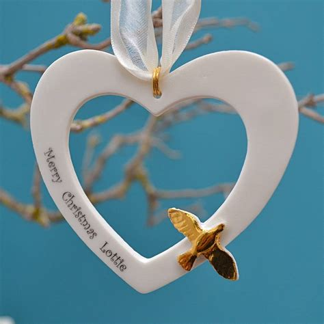 personalised porcelain christmas decoration by carys boyle