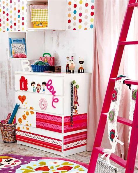 mommo design  colorful ikea hacks girly malm kids furniture  details ikea drawers