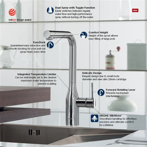grohe essence kitchen faucet grohe essence new single hole single handle kitchen faucet