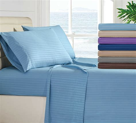 egyptian comfort  piece deep pocket bed sheet set multi colors  sizes ebay