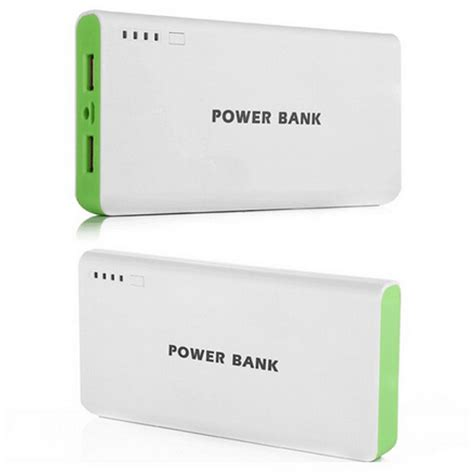 Power Bank Log On 15000mah מוצר 15000mah power bank external battery white green