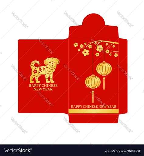 ang pao envelope template new year envelope flat icon royalty free vector