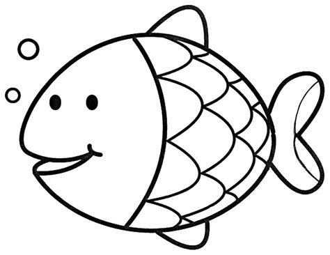 cartoon fish coloring page fish coloring pages
