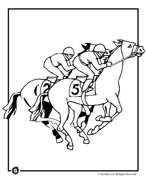 horse racing coloring pages coloring home