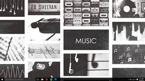 Tumblr Music Wallpaper (BLACK AND WHITE) by Coffee Break