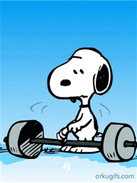 snoopy lifting weight images  messages