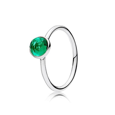 pandora birthstone pandora may droplet birthstone ring 191012nrg greed