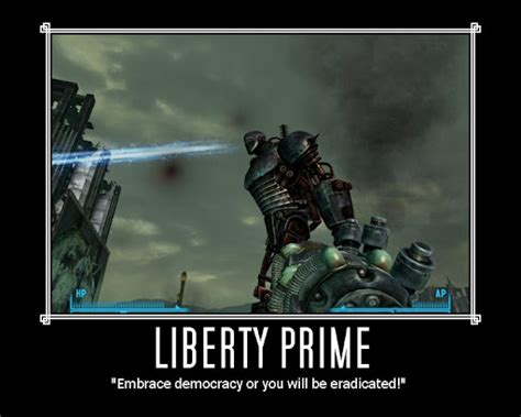 Liberty Prime Meme - how did she know fallout 4 gaming