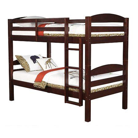 bunk beds walmart mainstays wood bunk bed espresso