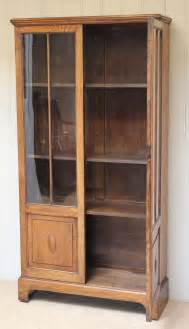 Oak Bookcase With Doors Two Door Part Glazed Oak Bookcase Antiques Atlas