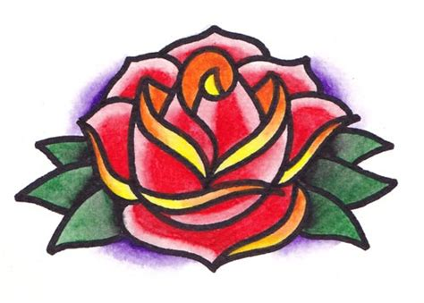 rose flash tattoo design by heathwreed on deviantart