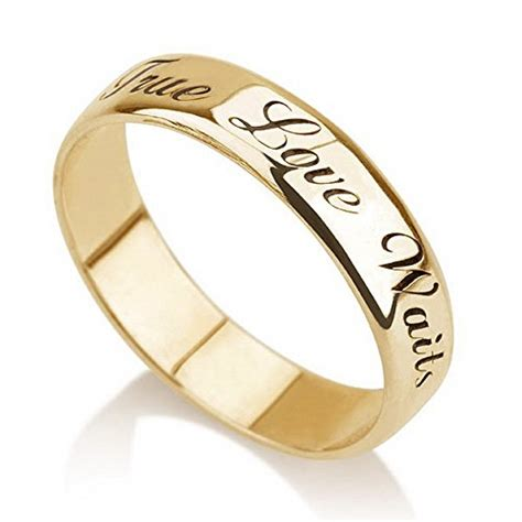 personalized purity ring gold plated engraved promise