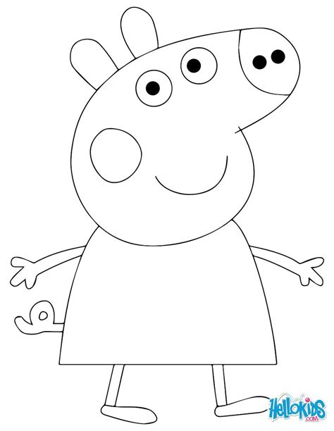 Peppa Pig Drawing Templates Peppa Pig Template Kids Coloring Europe Travel Guides Drawing Colouring In Templates