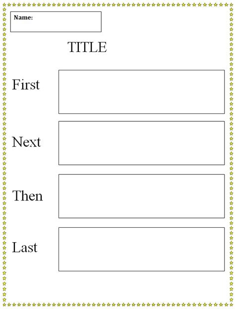 graphic organiser templates next then last graphic organizer template k 5