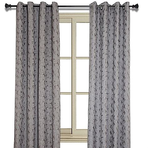 Buy Simone 102 Inch Jacquard Leaf Room Darkening Window
