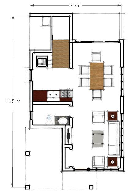 two storey residential building ground floor plan by