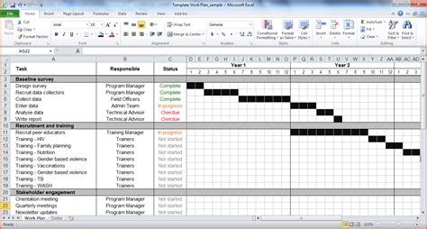 project templates excel excel 2016 project plan template plan template