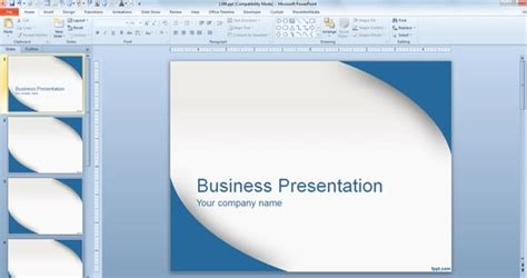 Applying A Template To Powerpoint Presentation Simple Business Template Powerpoint
