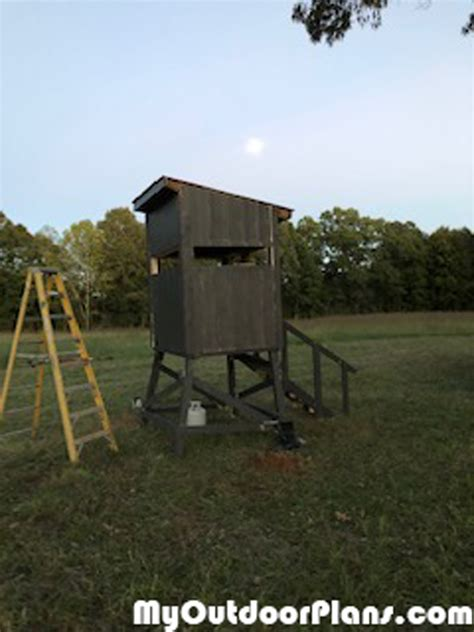 diy  deer stand myoutdoorplans  woodworking
