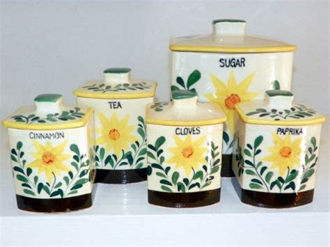 blue kitchen kanister set vintage canisters canister sets and canisters on