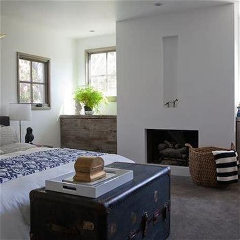 Blue Bedroom Trunk Room With Vintage Steamer Trunk Dresser