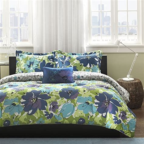 blue flower comforter set blue and green bedding sets
