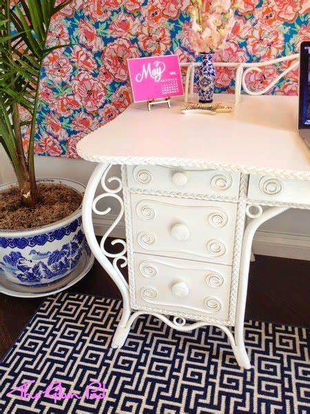 lilly pulitzer desk accessories one room challenge final reveal