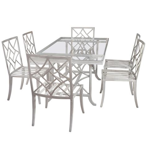 Chippendale Patio Furniture Chippendale Style Garden Set At 1stdibs