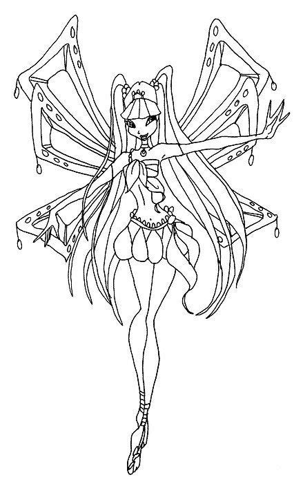 winx club flora coloring page - Google Search | Colorful
