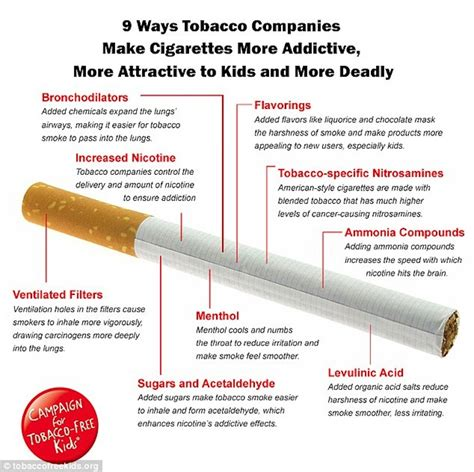 How To Detox Your From Cigarette Smoke by Graphic Big Tobacco Is Cigarettes More Addictive