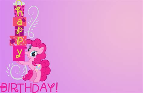 my pony birthday card template my pony birthday card by therealarietta on deviantart
