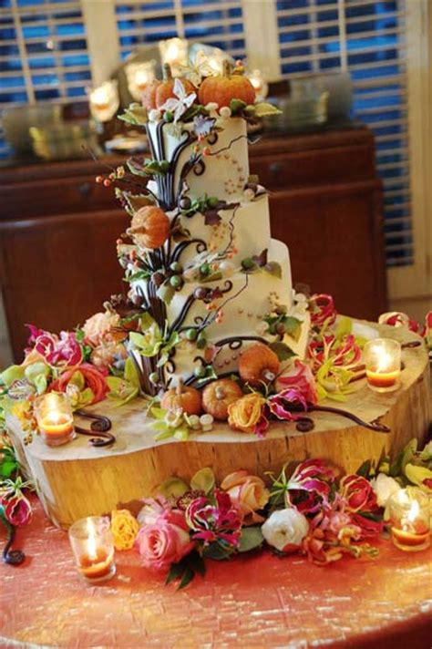 great ideas  fall wedding cake decoration style