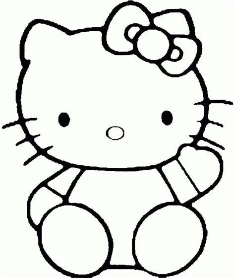 hello kitty cat coloring pages cartoon kitty pictures cliparts co