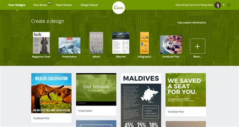 canva online website canva for nonprofits about canva