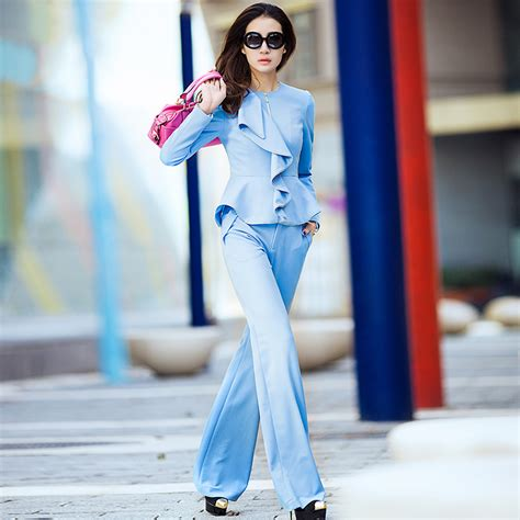 light blue suit jacket womens blue pant suit womens dress yy