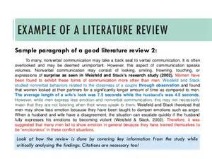 writing a literature review a guide